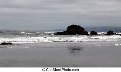 Northern California Beach Waves Wit