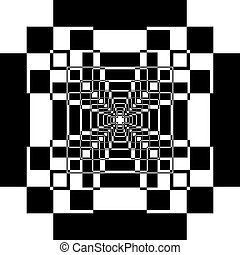 Abstract perspective square game background