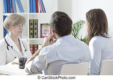 Young marriage at doctor's office - Young marriage with...