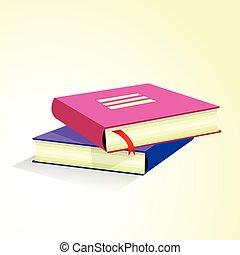 Stack of multicolored books