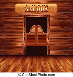 Swinging doors of saloon western