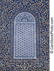 Window from Fes, Morocco - Detail of the traditional window...