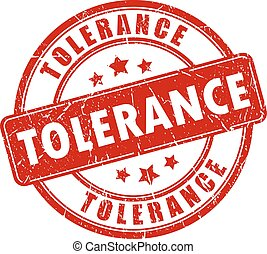 Tolerance stamp on white background