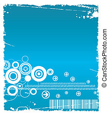 Technology Grunge - Technology blue grunge backdrop