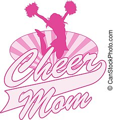 Cheer Mom Design is an illustration of a cheer design for...