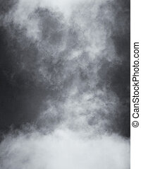 Black and White Clouds and Fog - A black and white rendition...