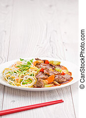 Cantonese Beef with Noodles - South Chinese Hongkong...