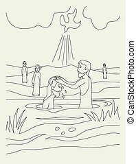 Baptist, art vector design