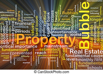 Property bubble background concept glowing - Background...