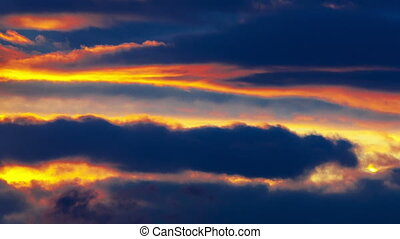 Sunset sky. Timelapse. - Sunset sky. Timelapse video.