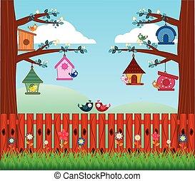 Bird House - full colour