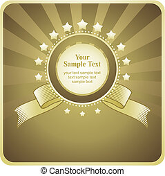 gold background with frame