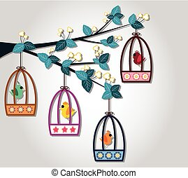 Bird Cage - full colour