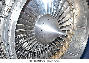 turbine - Metal turbine in the airplane