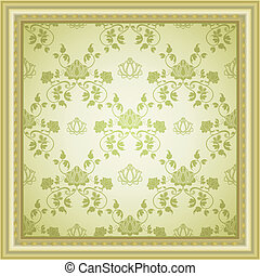 vintage seamless background with border