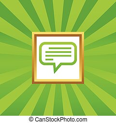 Text message picture icon - Image of chat bubble with text...