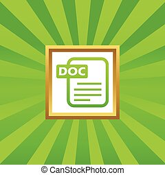 DOC file picture icon - Image of document page with text DOC...