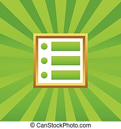 Dotted list picture icon - Image of dotted list in golden...