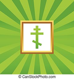 Orthodox cross picture icon - Image of orthodox cross in...