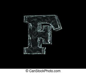 congelado, carta,  F
