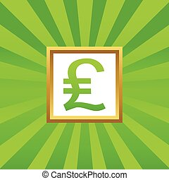 Pound sterling picture icon - Pound sterling symbol in...