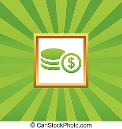 Dollar rouleau picture icon - Image of rouleau of dollar...