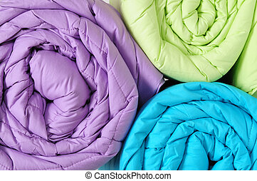 Rolled up duvet - Colorful duvet