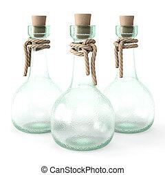 potion - empty bottle potion. isolated on white background.