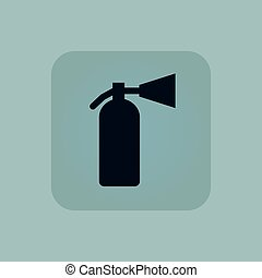 Pale blue fire extinguisher icon - Image of fire...