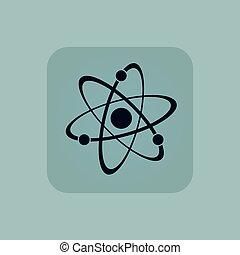 Pale blue atom icon