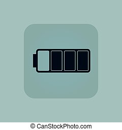 Pale blue almost battery icon - Image of three quarters full...