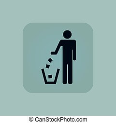 Pale blue recycling icon