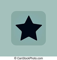Pale blue star icon - Image of star in square, on pale blue...