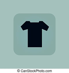 Pale blue T-shirt icon - Image of T-shirt in square, on pale...