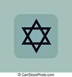Pale blue Star David icon - Image of Star of David symbol in...