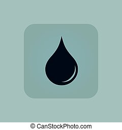 Pale blue water drop icon
