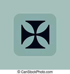 Pale blue maltese cross icon - Image of maltese cross in...