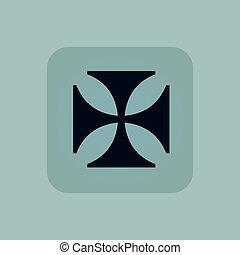 Pale blue maltese cross icon - Image of maltese cross in...