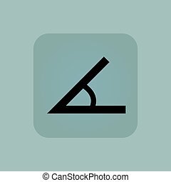Pale blue angle icon - Image of angle in square, on pale...