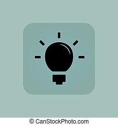 Pale blue light bulb icon