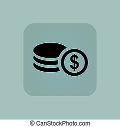 Pale blue dollar rouleau icon - Image of rouleau of dollar...