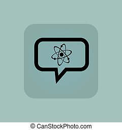 Pale blue atom message icon
