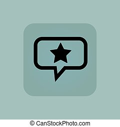 Pale blue favorite message icon - Star in chat bubble, in...