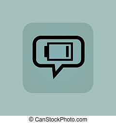 Pale blue low energy message - Very low battery indicator in...