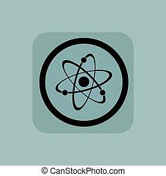 Pale blue atom sign