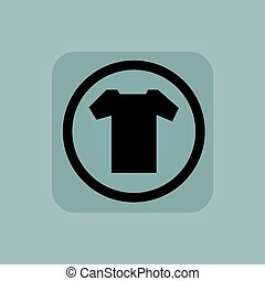 Pale blue T-shirt sign - T-shirt in circle, in square, on...