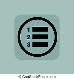 Pale blue numbered list sign - Numbered list in circle, in...