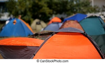 Rest In Camp On The Nature