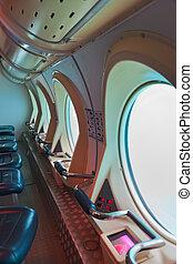 touristic, Submarino, en, Tenerife, -, canario, españa,