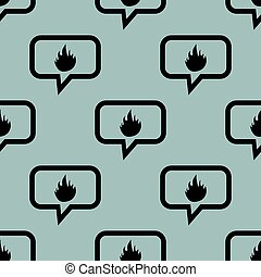 Pale blue fire message pattern - Image of flame in chat...